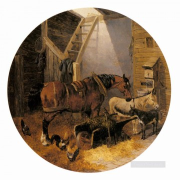 horse Art Painting - The Farmyard4 John Frederick Herring Jr horse