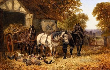 The Hay Cart John Frederick Herring Jr horse Oil Paintings
