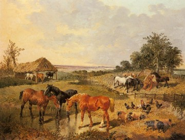 Country Life John Frederick Herring Jr horse Oil Paintings