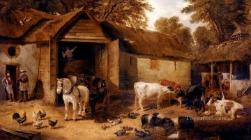 The Farmyard3 John Frederick Herring Jr horse Oil Paintings