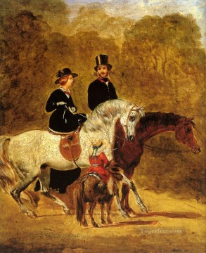 Sketch Of Queen Victoria Herring Snr John Frederick horse Oil Paintings