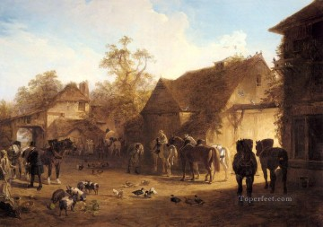 The Country Inn Herring Snr John Frederick horse Oil Paintings