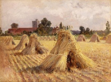 Corn Stooks Heywood Hardy Oil Paintings