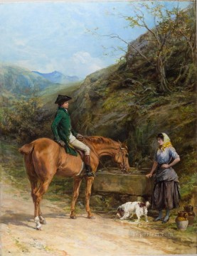 A Chance Meeting Heywood Hardy horse riding Oil Paintings