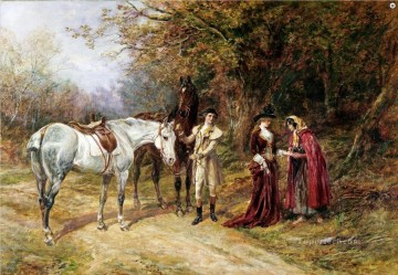 THE FORTUNE TELLER Heywood Hardy horse riding Oil Paintings