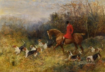 The Draw Heywood Hardy horse riding Oil Paintings