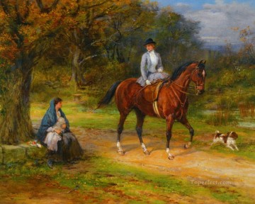 ask the way 2 Heywood Hardy horse riding Oil Paintings
