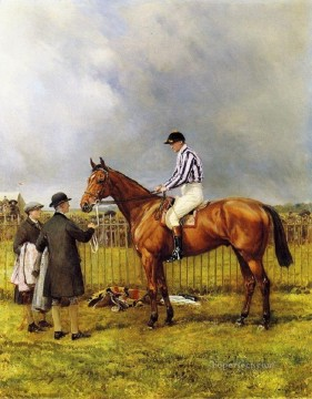racing horse Heywood Hardy horse riding Oil Paintings