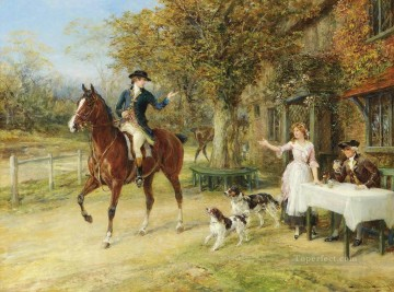 A fond farewell Heywood Hardy horse riding Oil Paintings