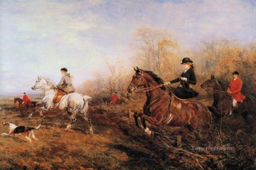 Out for a Scamper Heywood Hardy horse riding Oil Paintings