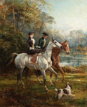 The Morning Ride 2 Heywood Hardy horse riding Oil Paintings