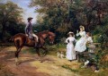 A Meeting by The Stile Heywood Hardy horse riding