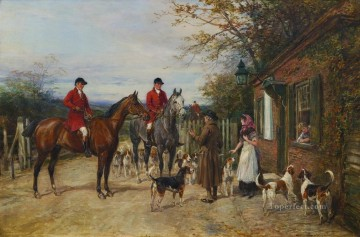 AFTER THE HUNT Heywood Hardy horse riding Oil Paintings