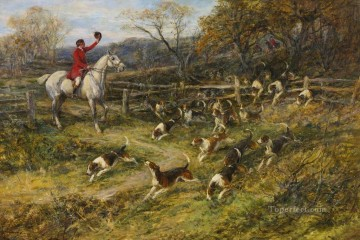 BREAKING COVER Heywood Hardy horse riding Oil Paintings