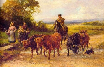 the handsome drover Heywood Hardy horse riding Oil Paintings
