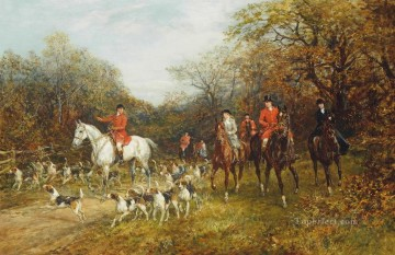 Entering the covert Heywood Hardy horse riding Oil Paintings