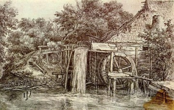 Watermill Meindert Hobbema Oil Paintings