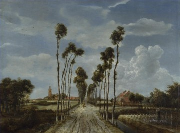 Meindert Hobbema Painting - The Alley at Middelharnis Meindert Hobbema