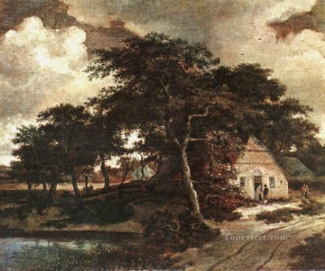 Meindert Hobbema Painting - Landscape with a HutMeindert Hobbema