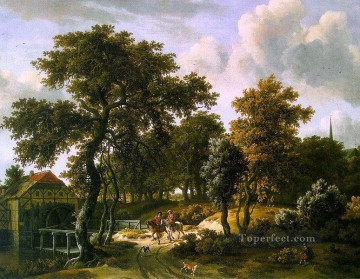 The Travelers Meindert Hobbema Oil Paintings