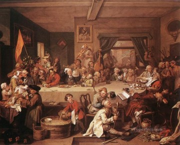 William Hogarth Painting - An Election Entertainment William Hogarth