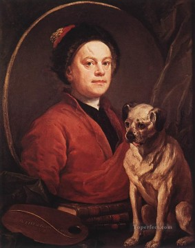 william art painting - The Painter and his Pug William Hogarth