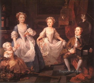 william art painting - The Graham Children William Hogarth