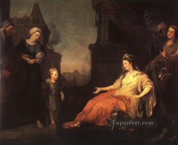 William Hogarth Painting - Moses Brought before Pharaohs Daughter William Hogarth