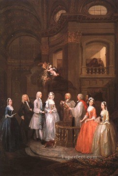 Wedding Art - The Wedding of Stephen Beckingham and Mary Cox William Hogarth