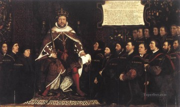 Henry VIII and the Barber Surgeons Renaissance Hans Holbein the Younger Oil Paintings