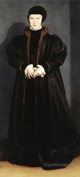 Christina of Denmark Ducchess of Milan Renaissance Hans Holbein the Younger Oil Paintings