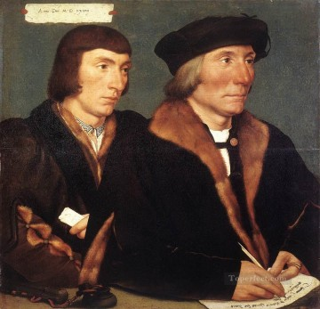 Hans Holbein the Younger Painting - Double Portrait of Sir Thomas Godsalve and His Son John Renaissance Hans Holbein the Younger