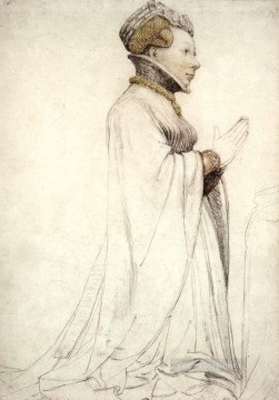 Hans Canvas - Jeanne de Boulogne Duchess of Berry Renaissance Hans Holbein the Younger