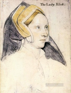 Hans Canvas - Lady Elyot Renaissance Hans Holbein the Younger