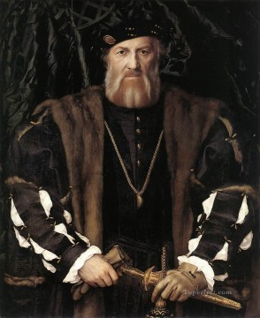 Hans Canvas - Portrait of Charles de Solier Lord of Morette Renaissance Hans Holbein the Younger