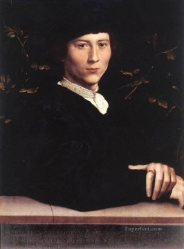 Hans Canvas - Portrait of Derich Born Renaissance Hans Holbein the Younger