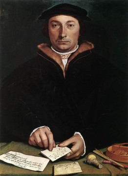 Hans Canvas - Portrait of Dirk Tybis Renaissance Hans Holbein the Younger