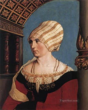 Hans Canvas - Portrait of Dorothea Meyer nee Kannengiesser Renaissance Hans Holbein the Younger