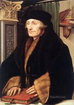 Hans Canvas - Portrait of Erasmus of Rotterdam Renaissance Hans Holbein the Younger