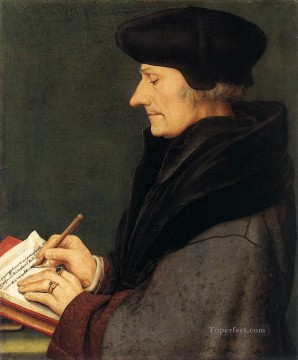 Portrait of Erasmus of Rotterdam Writing Renaissance Hans Holbein the Younger Oil Paintings