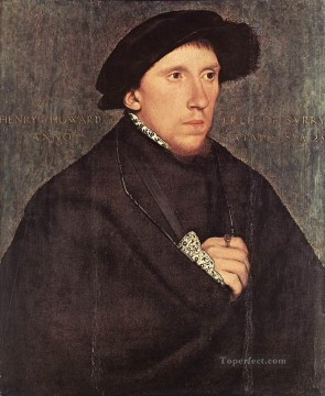 Hans Canvas - Portrait of Henry Howard the Earl of Surrey Renaissance Hans Holbein the Younger
