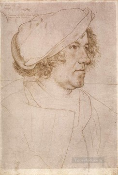 Hans Canvas - Portrait of Jakob Meyer zum Hasen Renaissance Hans Holbein the Younger
