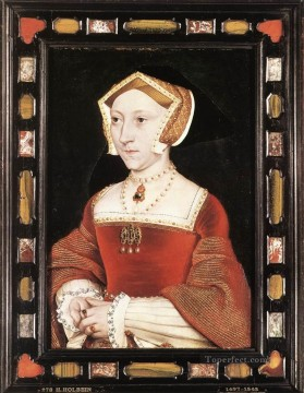 Hans Canvas - Portrait of Jane Seymour Renaissance Hans Holbein the Younger