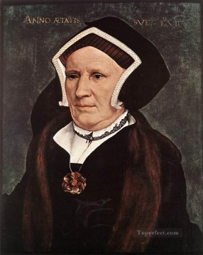 Hans Holbein the Younger Painting - Portrait of Lady Margaret Butts Renaissance Hans Holbein the Younger