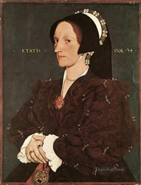 Hans Canvas - Portrait of Margaret Wyatt Lady Lee Renaissance Hans Holbein the Younger