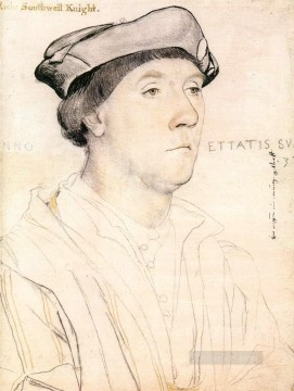 Hans Canvas - Portrait of Sir Richard Southwell Renaissance Hans Holbein the Younger