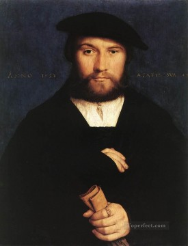 Hans Canvas - Portrait of a Member of the Wedigh Family Renaissance Hans Holbein the Younger