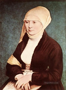 Artists Oil Painting - Portrait of the Artists Wife Renaissance Hans Holbein the Younger