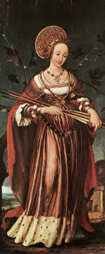 Hans Holbein the Younger Painting - St Ursula Renaissance Hans Holbein the Younger
