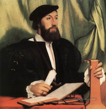 Lute Art - Unknown Gentleman with Music Books and Lute Renaissance Hans Holbein the Younger